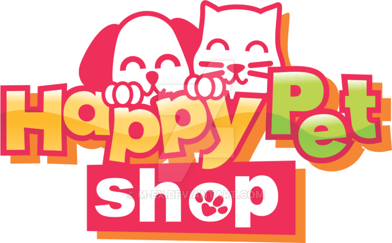 Logo by m ex. Pet clipart happy pet