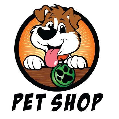 Pet clipart logo. Shop dog premium clipartlogo