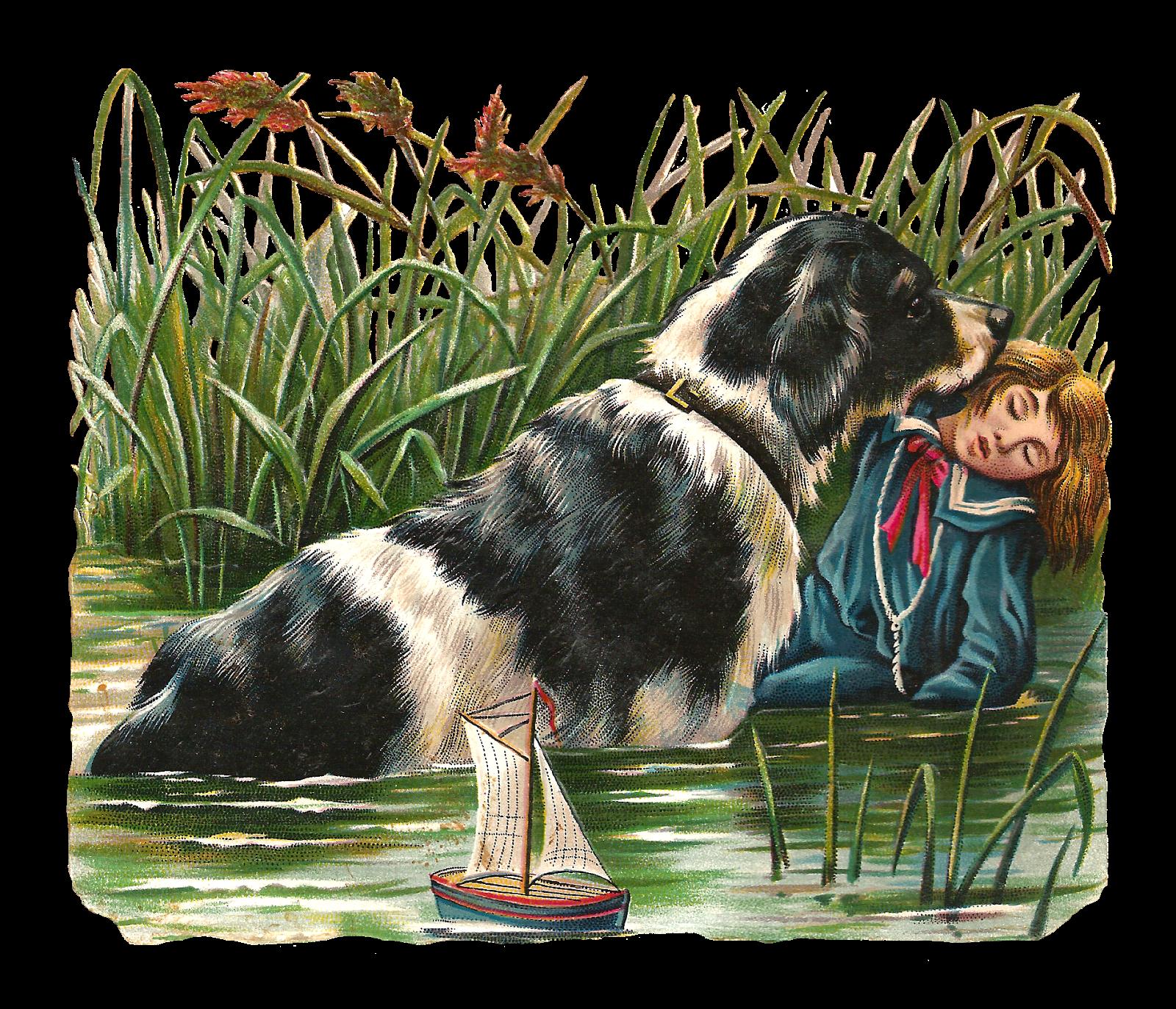 Antique images free clip. Pet clipart loyal dog