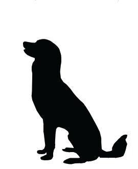 Silhouette clip art large. Pet clipart loyal dog