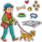 Pet clipart pet care. Dog walking panda free