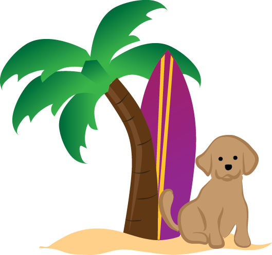 Beach n bay getaways. Pet clipart pet owner