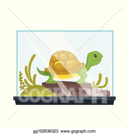 Pet clipart pet turtle. Vector illustration animal in