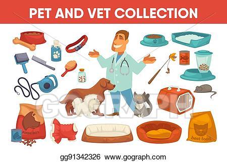 Eps vector dog cat. Pet clipart stuff