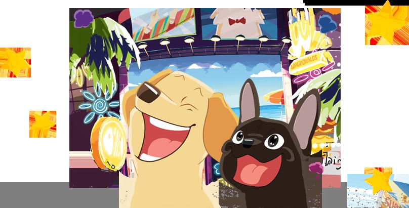 Pet clipart two dog. Petlandia roadtrip your dogs