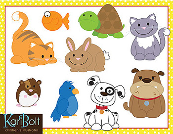 Animal clip art by. Pets clipart