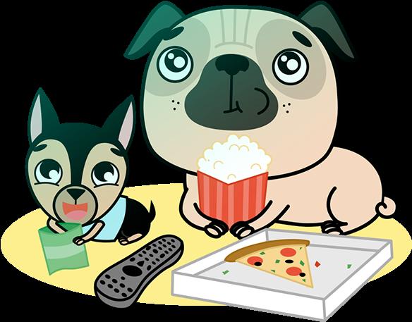 Pets clipart loyal dog. Hd pug cartoon transparent
