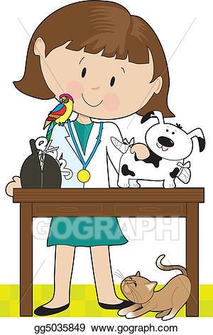 Clip art woman vet. Veterinarian clipart female veterinarian