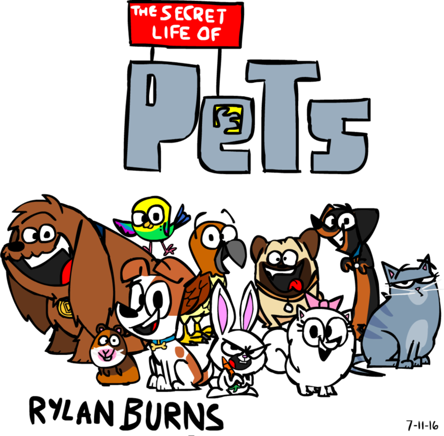 Pets clipart secret life pets. The of by rylanlego