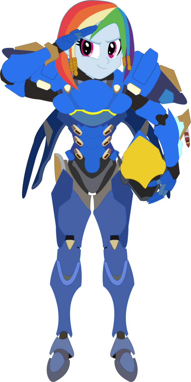 Pharah overwatch png.  alternate hairstyle armor