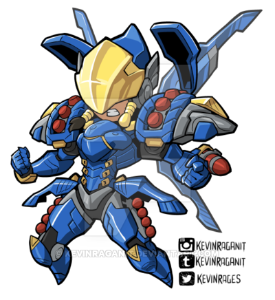 Pharah overwatch png. By kevinraganit on deviantart
