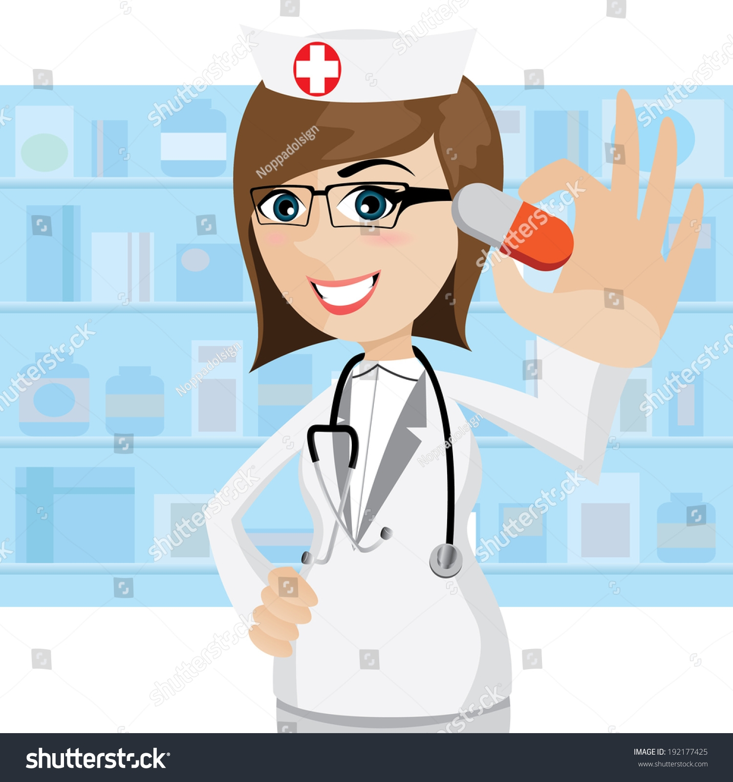 Pharmacist clipart. Awesome design digital collection