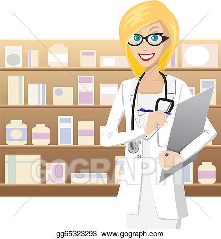 Pharmacist clipart. Clip art royalty free