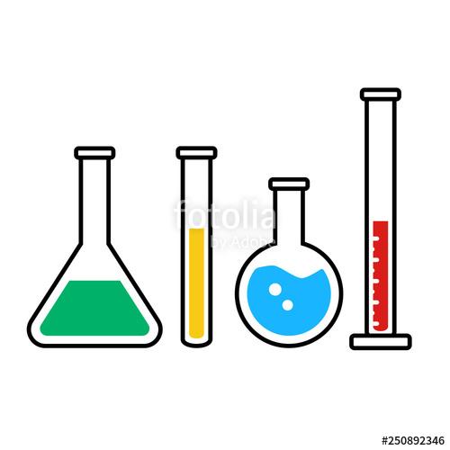 Color chemistry beakers and. Pharmacy clipart beaker