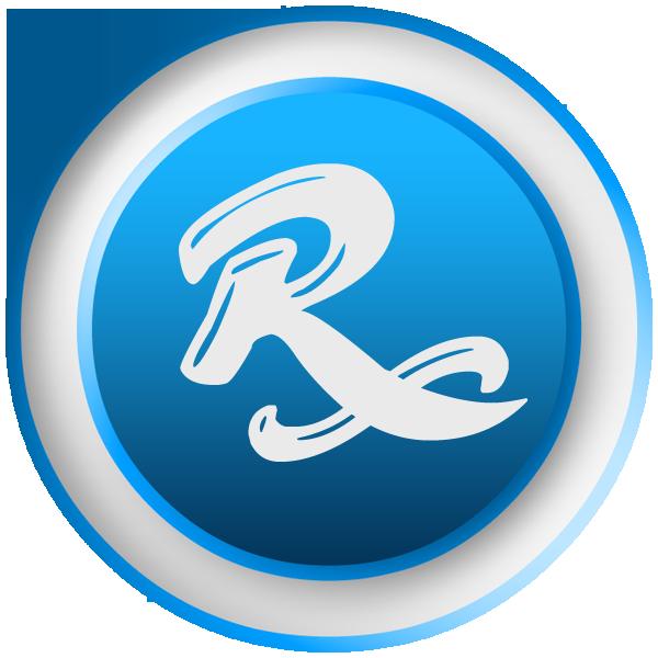 Rx pharmacy symbol long. R clipart trademark