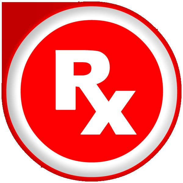 Rx prescription symbol bold. Pharmacy clipart vintage