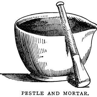 Mortar pestle clip art. Pharmacy clipart vintage