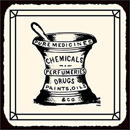 Pharmacy clipart vintage. Drugs metal art retro