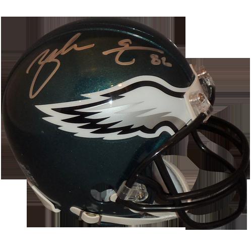 Zach ertz autographed mini. Philadelphia eagles helmet png