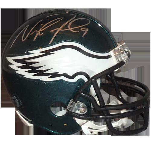 Philadelphia eagles helmet png. Nick foles autographed mini