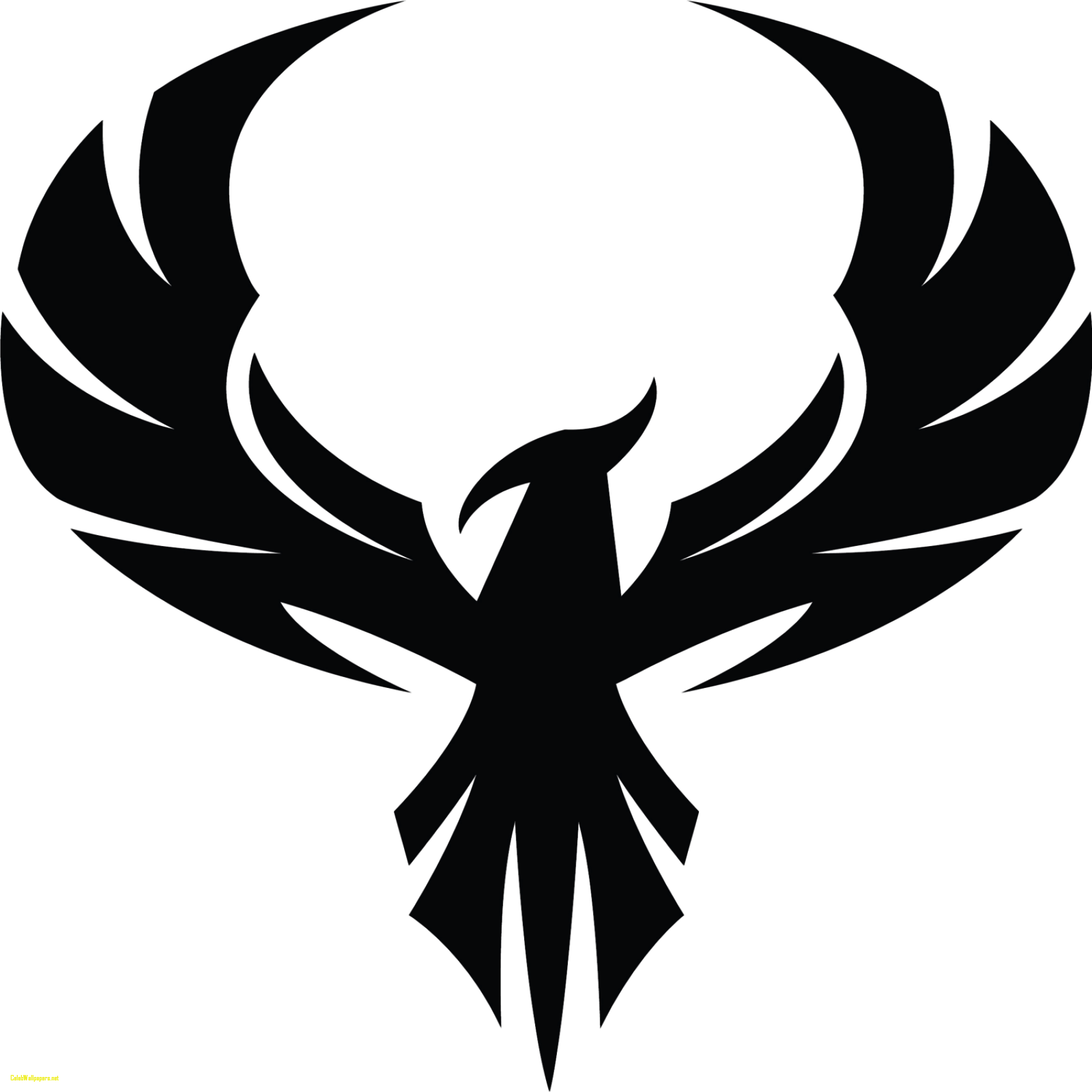 Silhouette at getdrawings com. Phoenix clipart
