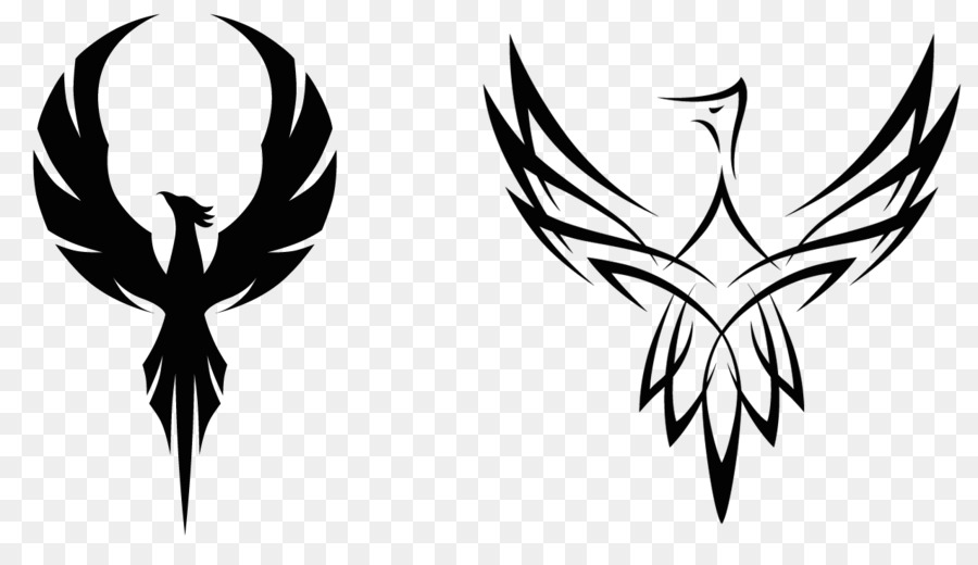 Phoenix clipart. Logo clip art black
