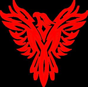 Red clip art at. Phoenix clipart