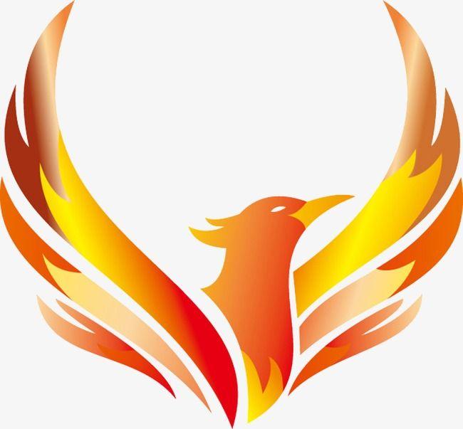 Phoenix clipart. Logo vector design mark