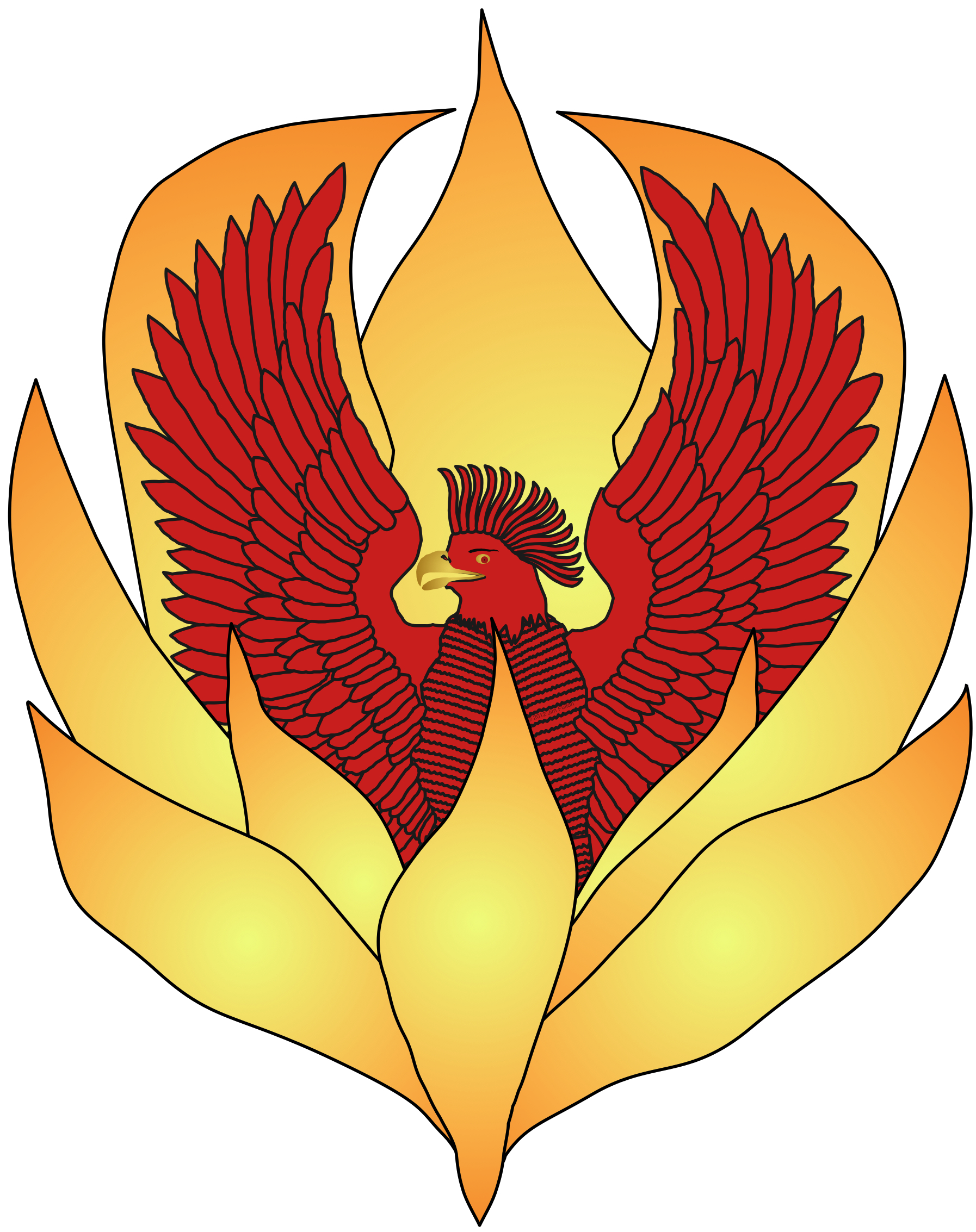 Myths of the. Phoenix clipart arabian