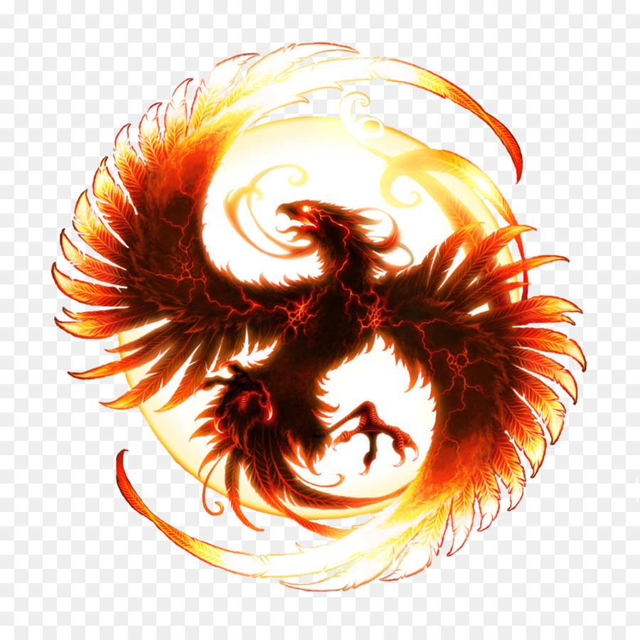 Phoenix clipart circle. Background transparent