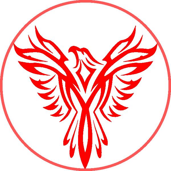 In a clip art. Phoenix clipart circle