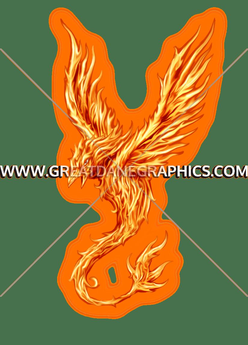 Phoenix clipart emblem. Production ready artwork for