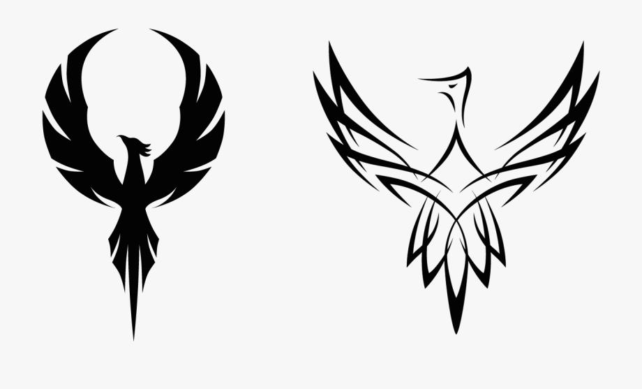 Cute silhouette of a. Phoenix clipart feminine