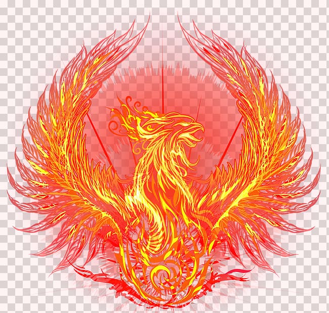 Phoenix clipart flaming. Fire graphic fenghuang flame