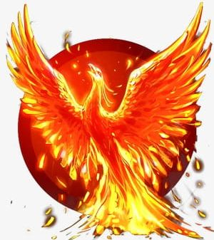 Flame png animal bird. Phoenix clipart flaming