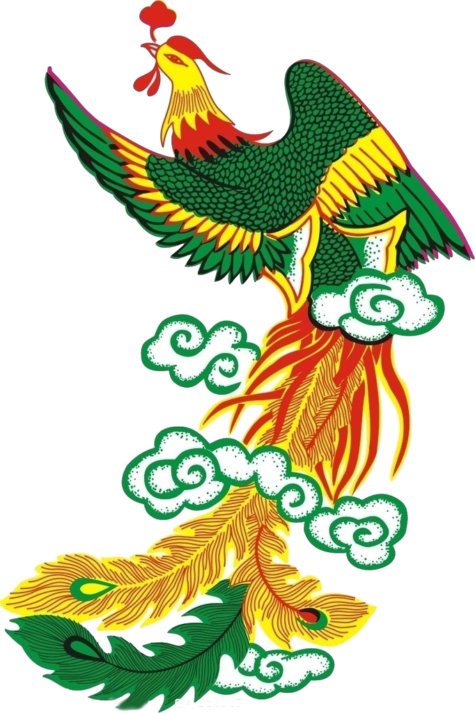 Phoenix clipart graphic design. Fenghuang cartoon relief transprent