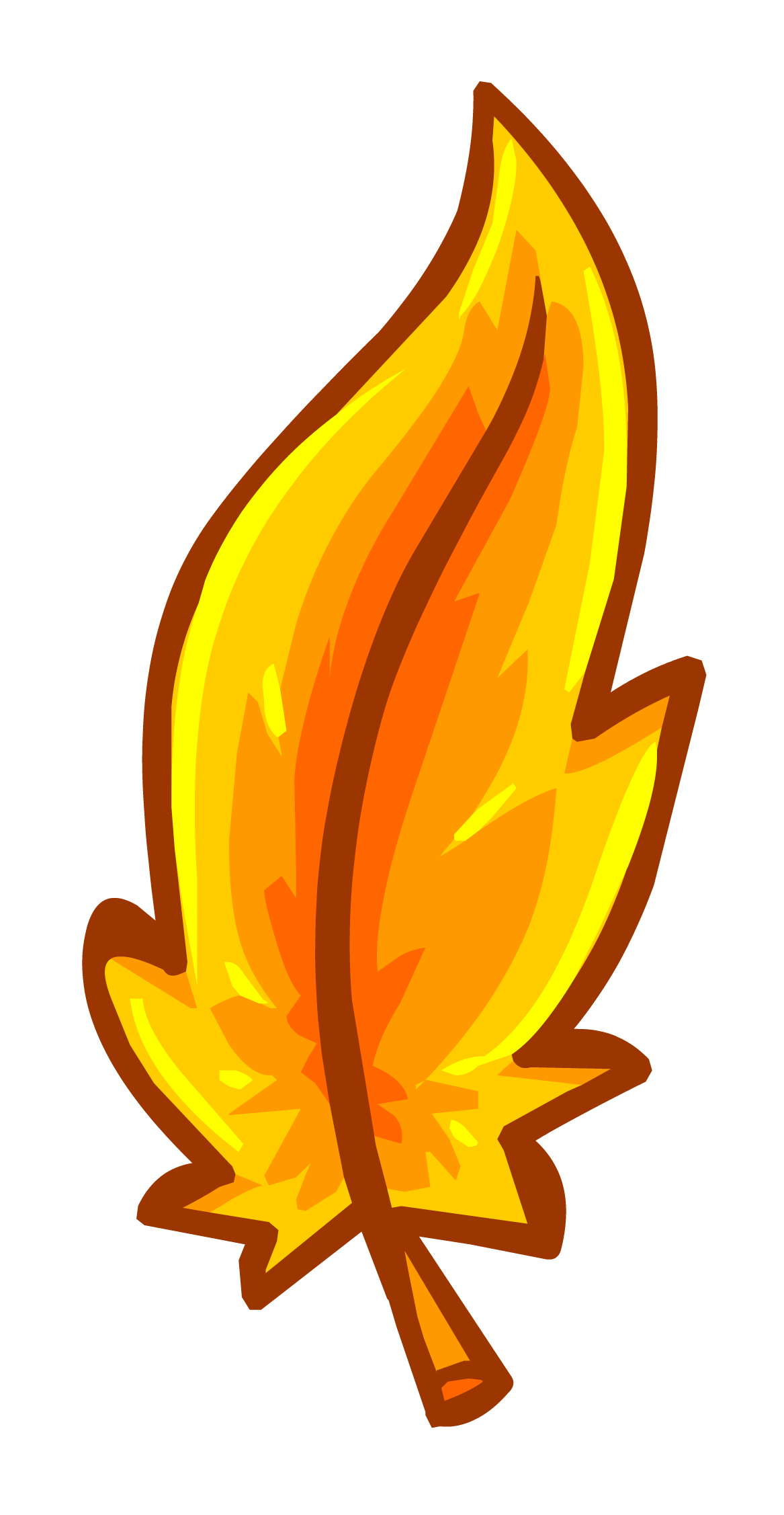 pin clipart feather