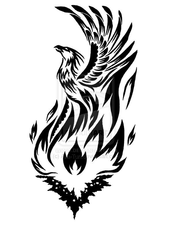 Deviantart more like tattoo. Phoenix clipart meaning