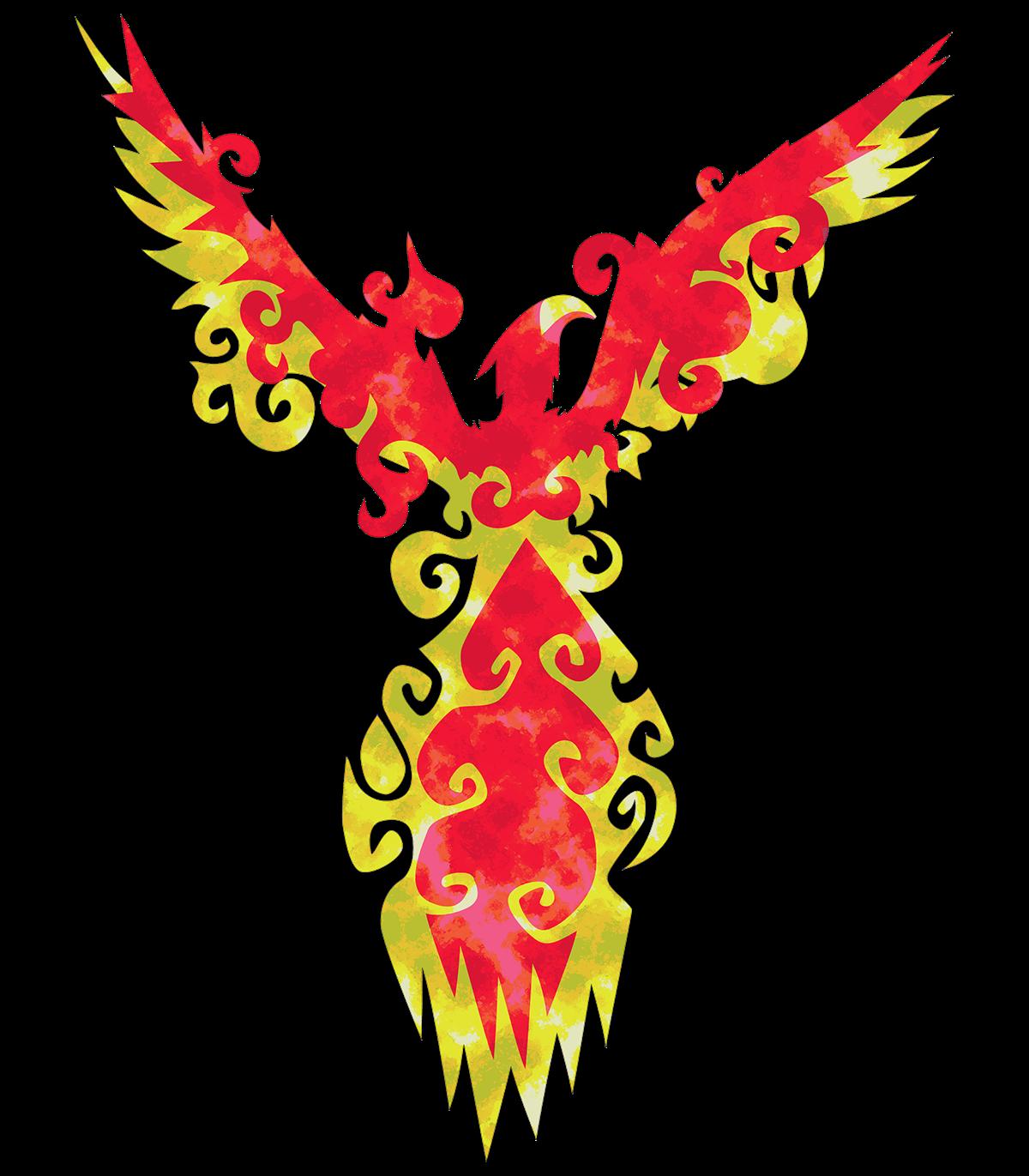 T shirt design on. Phoenix clipart profile