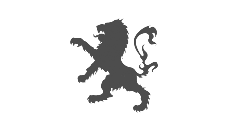 Investment team rampant lion. Phoenix clipart profile