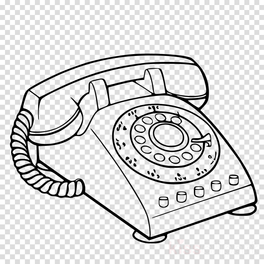 Phone clipart clip art. Line telephone coloring book