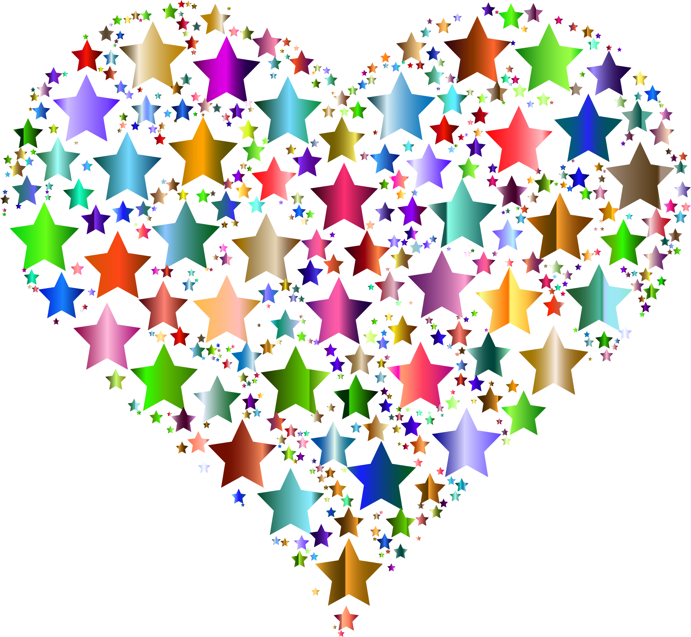 Heart stars big image. R clipart colorful