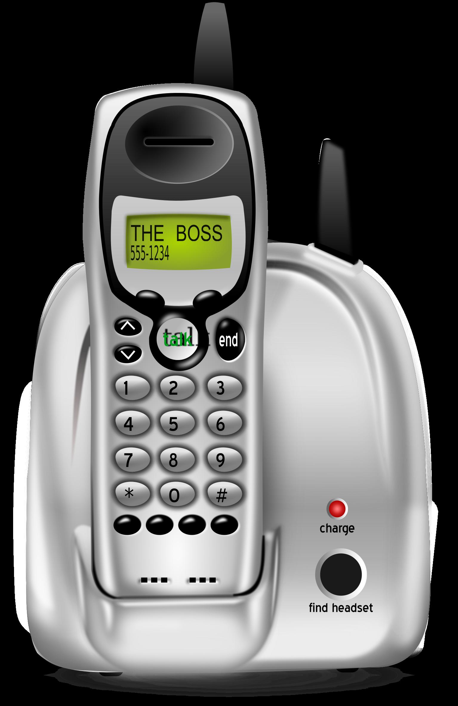 Telephone clipart handset. Home phone big image