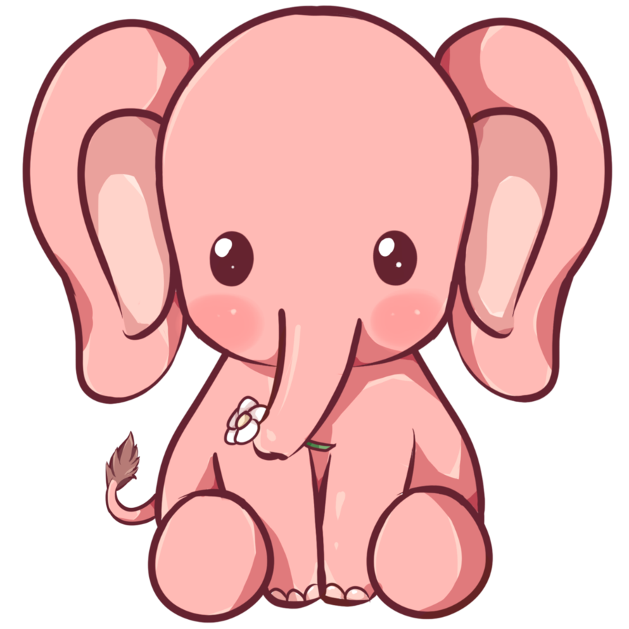 collection of elephant. Phone clipart kawaii