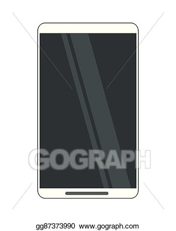 Vector stock cellphone icon. Phone clipart modern