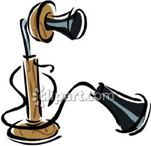 Candlestick royalty free picture. Phone clipart old fashioned phone