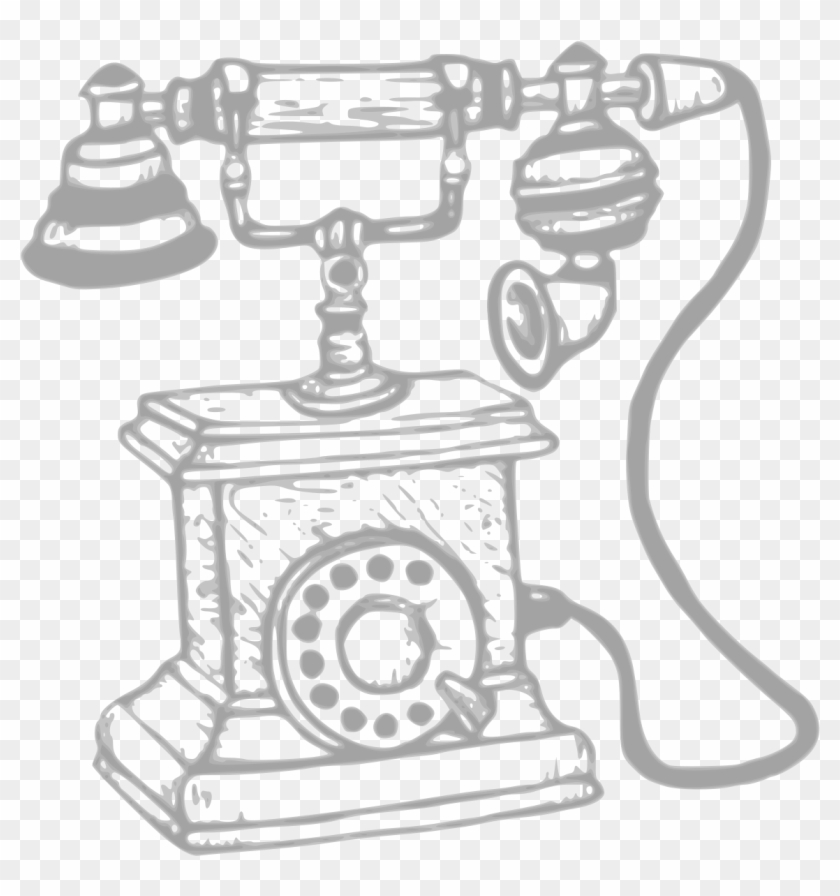 Phone clipart old fashioned phone. Svg black and white