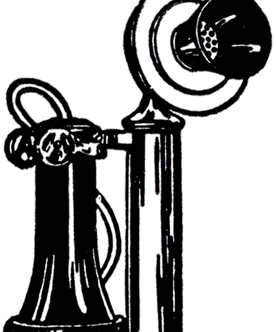 Telephone clipart old fashioned telephone. Free download best