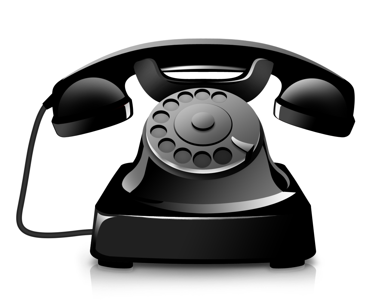 Black phone png image. Telephone clipart telephone cable
