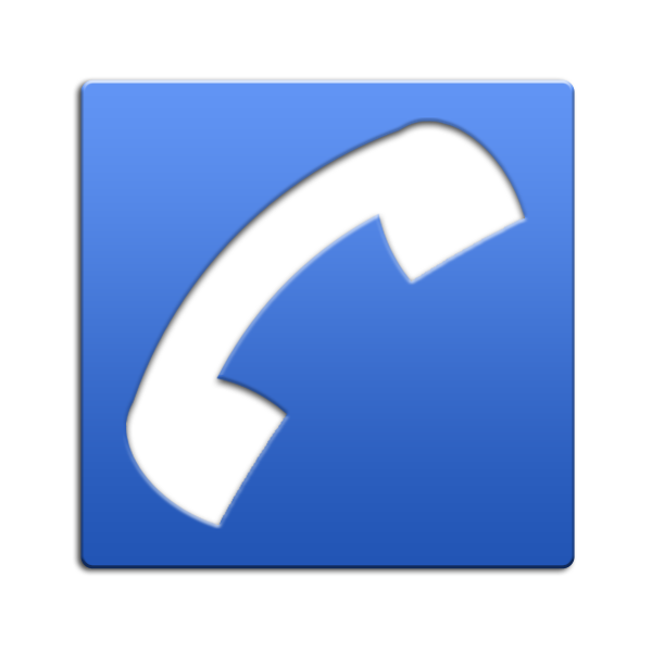 Blue clipground icon png. Phone clipart phone receiver